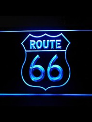 Route 66 Advertising LED Light Sign