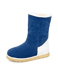 plana calcanhar botas botas de neve no meio da panturrilha de mulheres (mais cores)