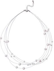 colar pedaços aglomerado cadeia resina esferas de aço de moda para as mulheres
