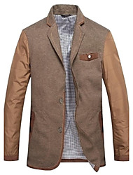 Men's Fashion Tip Collar Single Breasts Casual Blazer Jacket