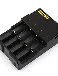 Altamente Charger avançada Inteligência i4 18650 RCR123 Ni-MH / Ni-Cd Smart Battery Charger Preto