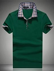 Männer Revers Freizeit Kurzarm Poloshirts