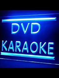 DVD Karaoké Boutique Publicité LED Connexion