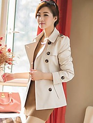Luto New Korean Style Womens Double Breasted Wing Coat