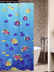Cute Cartoon Beautiful Undersea World Shower Curtain