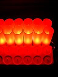 senza fiamma principale ricaricabile candela per la decorazione di festival della luce 12pcs LED rosso