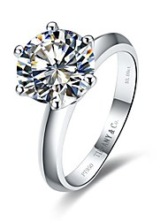 Classic Women's 1CT White NSCD Simulated  Diamond Rings With Card Certificate (H-J) (1 Pc)