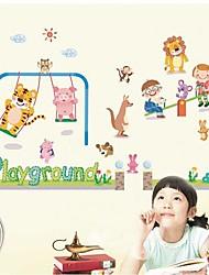 Doudouwo ® animados Parque Animais E Crianças jogo junto Wall Stickers