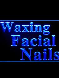 Waxing Facial Nails Advertising LED Light Sign
