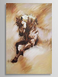 Oil Painting Animal Running horse with Stretched Frame Hand-Painted Canvas