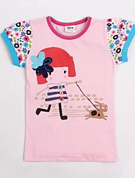 Girl's Pink Tee Cotton Summer