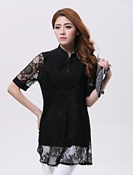 Women'S Chain Link Fence Hollow Chiffon Blouse