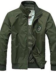 SENLEIS® Men's Stand Collar Basic Long Sleeve Jacke kjyh