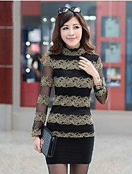 Women's Multi-color Blouse Long Sleeve