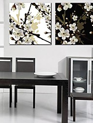 Stretched Canvas Art Peach Blossom Set of 2