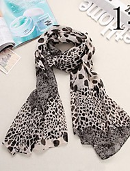 Bully Combinatie Leopard Pattern Shawl chiffon sjaal