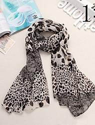 Bully Kombination Leopard-Muster-Schal Chiffon-Schal