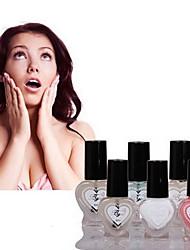 6pcs aggiunti ambiente calcio latte amichevole avirulent insipidity nail polish set no.12 (infermieristica di base)