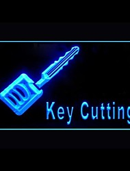 Key Cutting Knife Advertising LED Light Sign
