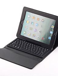 Case em Pele com Suporte e Teclado Bluetooth para Novo iPad (Preto)