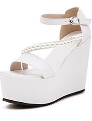 IPIEN Waterproof Slipsole Peep-Toe Sandal (White)