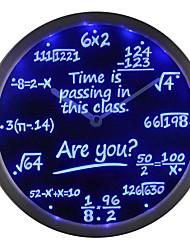 nc0463 Mathe-Klasse die Zeit vergeht sind Sie? Geschenk-Decor LED Neon Wanduhr