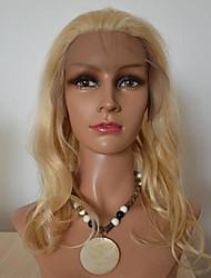 16inch brasileira onda do cabelo humano Cor de luz n º 613 Full Lace Wig