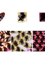 yemannvyou®10pcs de alta qualidade decorações de arte base plana strass prego no.4-6 (cores sortidas)