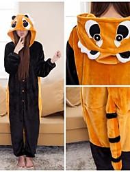 Brown mignon raton laveur adulte Coral Fleece Kigurumi Pyjamas animaux de nuit
