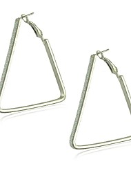 Alloy with Lagging Triangle Shapes Hoop Earrings