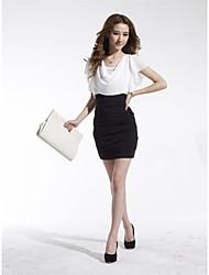 ORG Women's Short Sleeve Bodycon Chiffon Dress