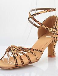Женские атласные Танцевальная обувь для Латинской / Бальные Сандалии