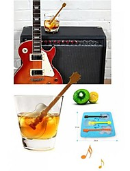 Guitar Ice Mould Silicone Ice Cubes Random Color , (6.8x8x1.2 inch)