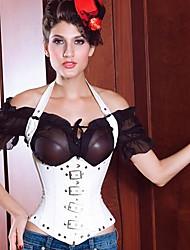 Serre Taille Vêtement de nuit Femme Couleur Pleine Coton / Mélanges de Coton Blanc / Rouge / Noir Aux femmes