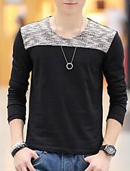 Men's Fashion Slim V-Neck Long Sleeve T-Shirts