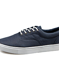 Men's Shoes Casual Canvas Fashion Sneakers Black / White / Navy