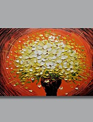 Hand Painted Modern Knife Decoration Flower Oil Painting with Stretched Frame Ready to Hang