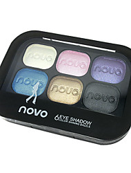 Six Colors Eyeshadow Powder