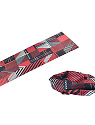 BOODUN Red+Black Plaids Multi-Functional Seamless Polyester Spandex Magic Scarf Headband