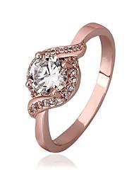 18 k plaqué or rose anneau / anneaux PROMIS pour les couples