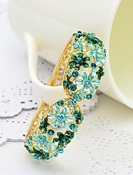 WesternRain Women's Elegant Flower Pattern Rhinestone Bracelet