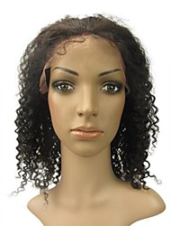 """Cheap Lace Front 14"""" Jerry Curly 100% Indian Remy Human Hair Lace Wig-5 Colors to Choose"""
