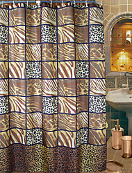 Abstract Artistic Leopard Print Shower Curtain