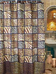 Cortina Artístico Leopard Print Duche Resumo