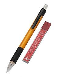 механика автомат карандаш с бесплатным HB заправок 0,5 мм (желтый, 3 шт)