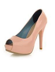 Chaussures Femme - Habillé / Soirée & Evénement - Noir / Rose / Blanc - Talon Aiguille - Talons / Bout Ouvert - Talons - Similicuir