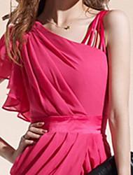 Songyi Women's One Shoulder Chiffon Bodycon Dress