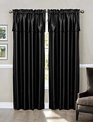 """(Zwei Platten Stange Tasche) Blackout Fenster Behandlung in Schwarz gesetzt - Volant Größe: 84 """"w * 24"""" l"""