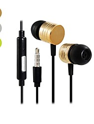 3.5 mm Audio Jack Stereo DBB In-ear Headphones with Microphone (120cm)