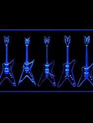 Electric Guitar Advertising LED Light Sign